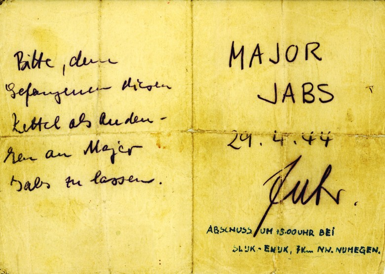 Jabs Note Given to JJC