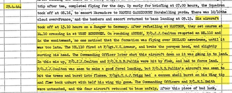 ORB 29 April 1944